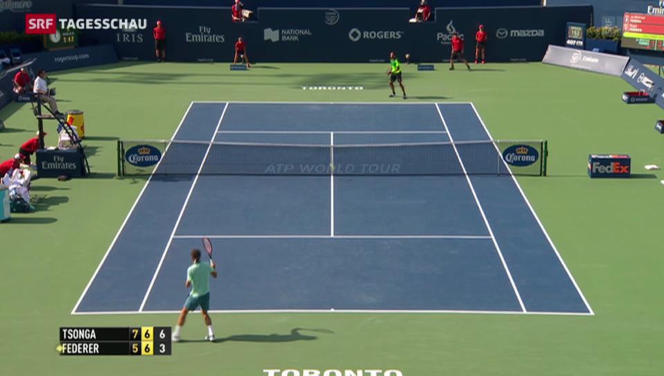 Tennis: Federer unterliegt Tsonga