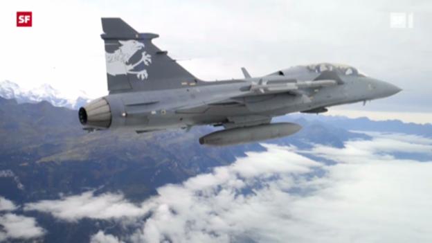 Video «Gripen-Jet in Emmen vorgeflogen» abspielen
