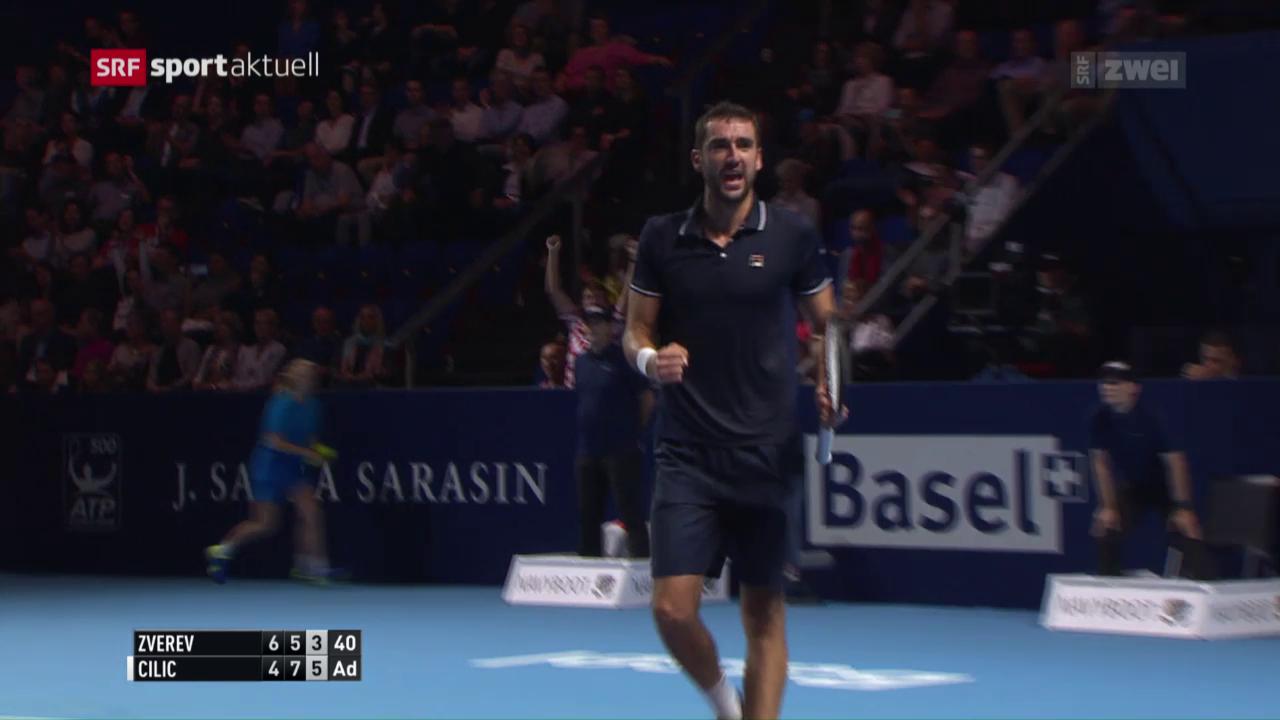 Nishikori und Cilic ziehen in Basel-Final ein
