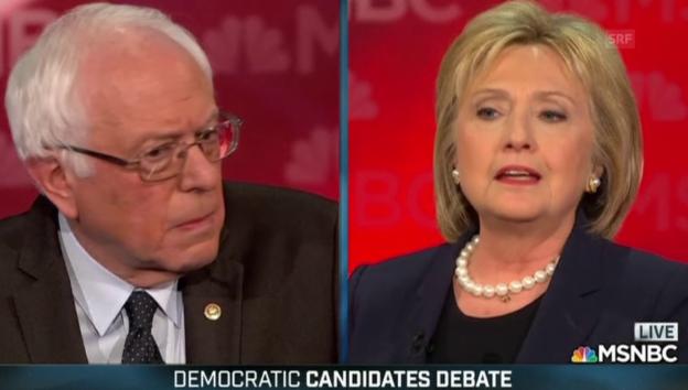 Video «Clinton und Sanders kreuzen die Klingen» abspielen