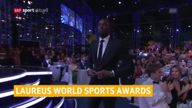 Video «Laureus: Bolt und Biles geehrt» abspielen