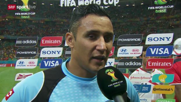 Video «FIFA WM 2014: Interview mit Keylor Navas» abspielen