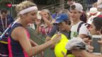 Video «Bacsinszky glückt der Auftakt beim French Open» abspielen