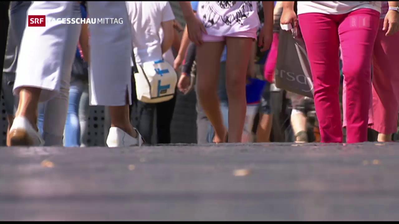 Wachstum der Schweizer Bevölkerung nimmt ab