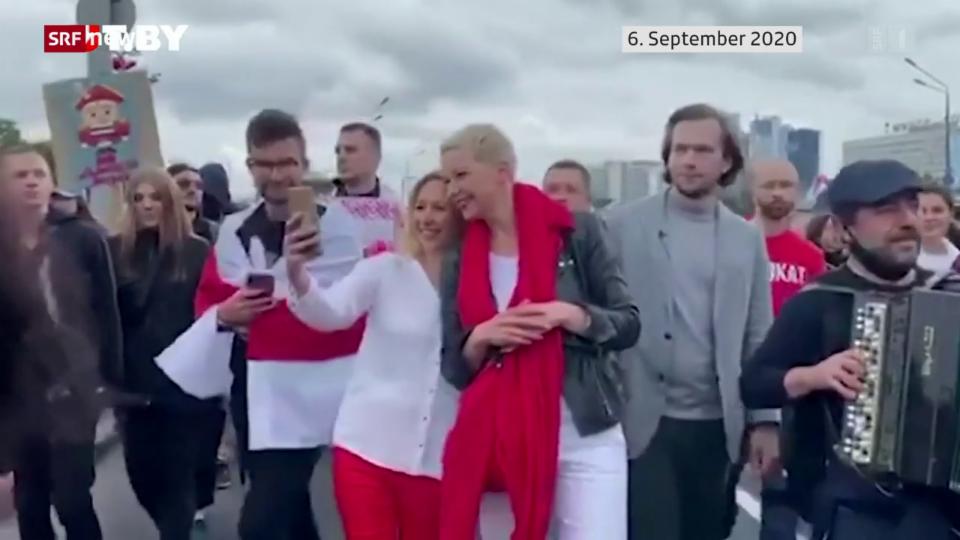 Belarussische Oppositionelle Kolesnikowa verurteilt.