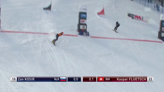 Video «Snowboard: Parallel-RS in Rogla, kleiner Final Männer» abspielen