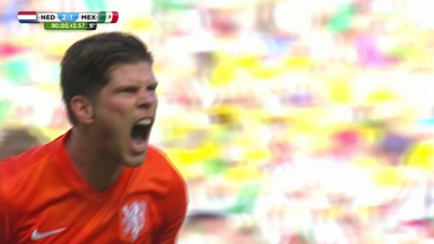 Video «FIFA WM 2014: Niederlande - Mexiko, die Live-Highlights» abspielen