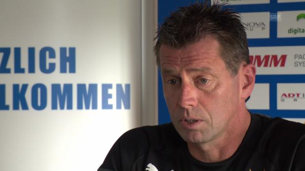 Video «GC-Trainer Skibbe zur Rückkehr von Vero Salatic» abspielen