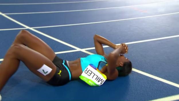 Video «Spektakulärer 400-m-Final der Frauen» abspielen