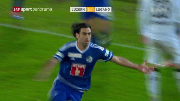 Video «Sieg in der 95. Minute: Puljic schockt Lugano» abspielen