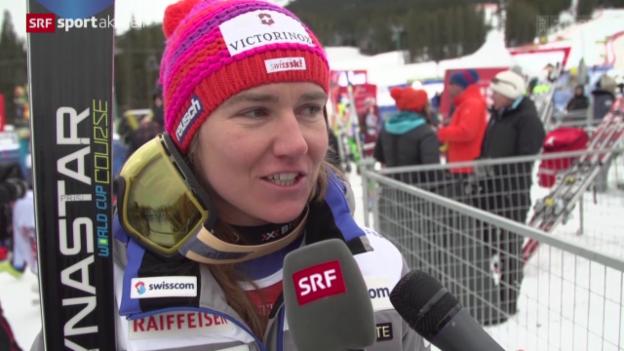 Video «Ski alpin: Abfahrt Frauen in Lake Louise, die Stimmen» abspielen