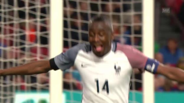 Video «Frankreich feiert in Amsterdam einen Last-Minute-Sieg» abspielen