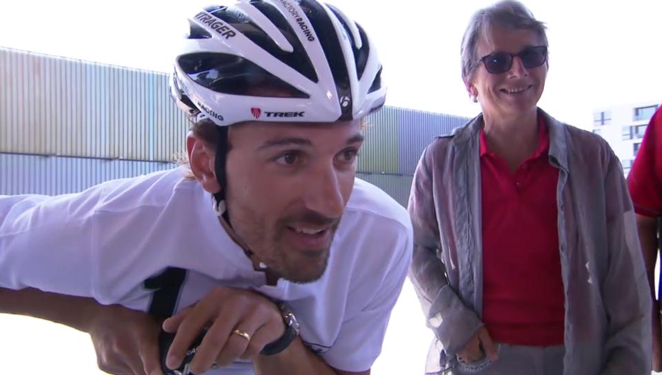 Fabian Cancellara zeigt Herz