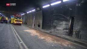 Video «Schwerer Unfall im Gotthard-Tunnel» abspielen