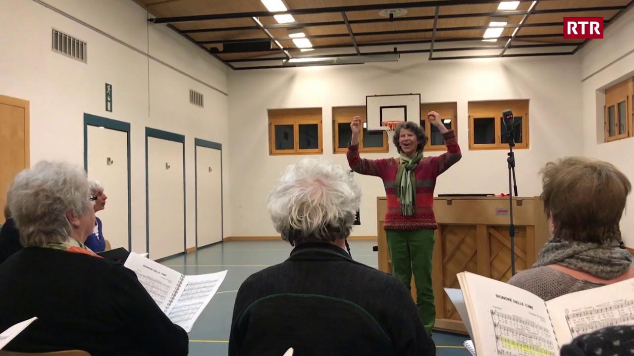 Josefina Blumenthal-Cadruvi tar il Chor masdo Alvra