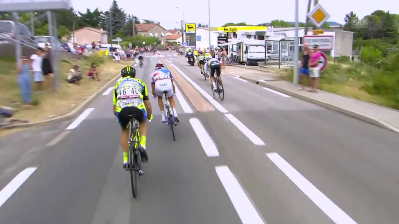 Rad, TdF 2015, Fast-Sturz Kwiatkowski, 15. Etappe