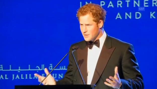 Video «Prinz Harry ruft zum Spenden auf» abspielen