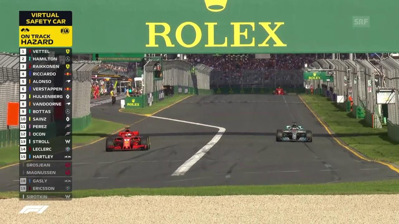 Vettel behauptet Spitze nach seinem Boxenstopp