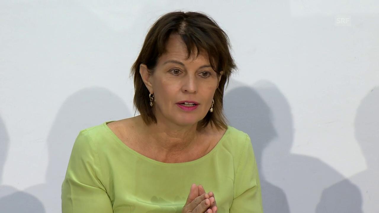 Doris Leuthard: Vorfinanzierung kann hilfreich sein
