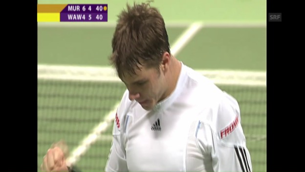 Video «Doha 2008: Turniersieg für Wawrinka gegen Murray» abspielen