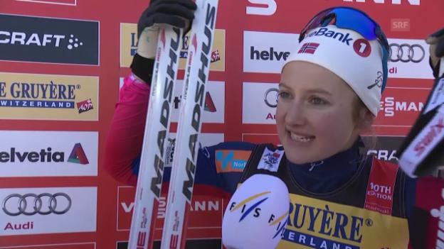 Video «Langlauf: Tour de Ski, Interview mit Ingvild Flugstad Östberg» abspielen