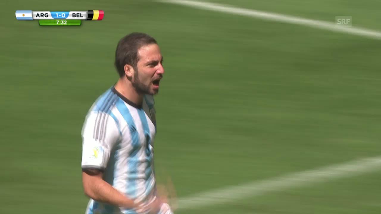 FIFA WM 2014: Argentinien - Belgien: Das 1:0 durch Higuain