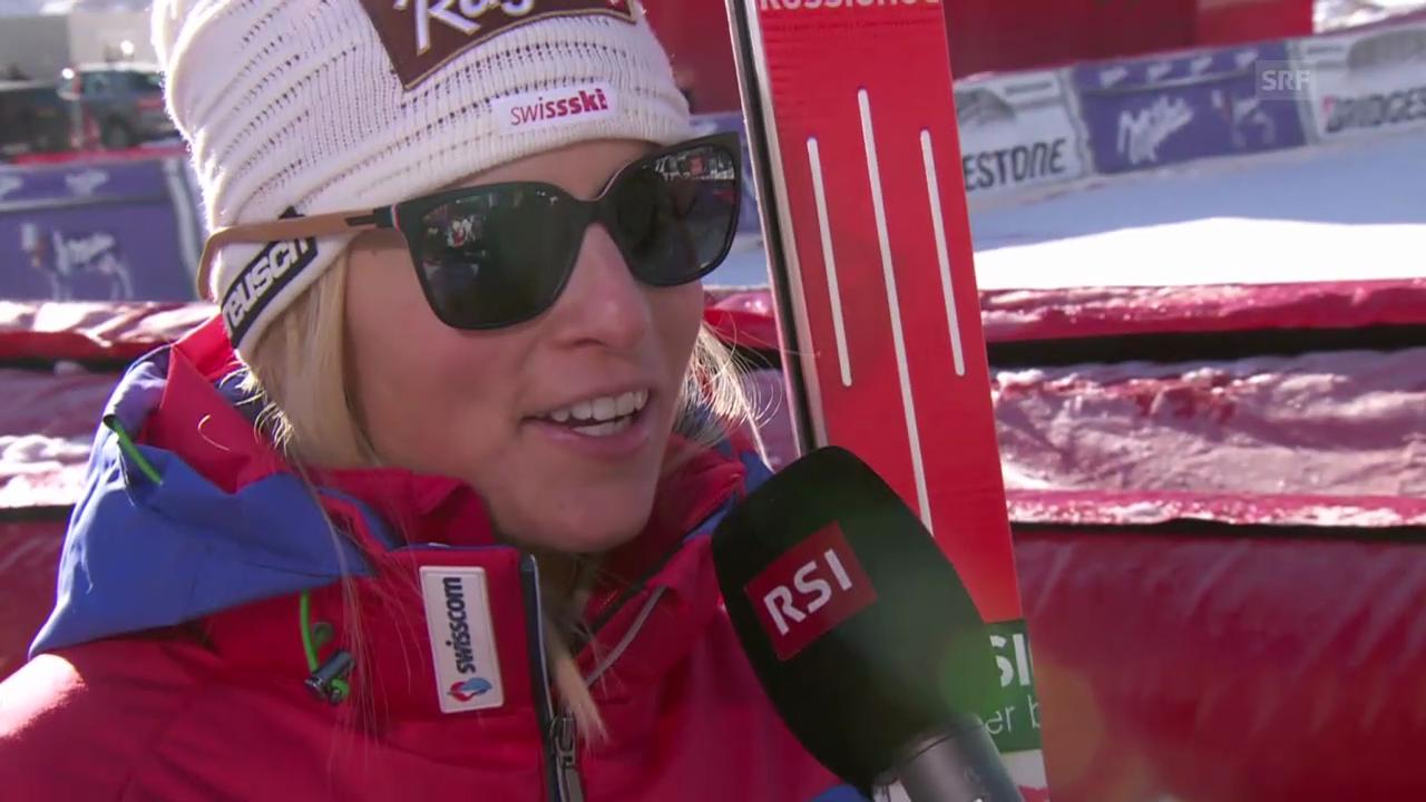 Ski alpin: Weltcup in Val d'Isère, Super-G, Lara Gut im Interview
