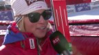 Video «Ski alpin: Weltcup in Val d'Isère, Super-G, Lara Gut im Interview» abspielen