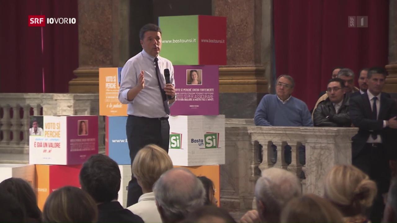 Italien: Schicksals-Abstimmung für Matteo Renzi