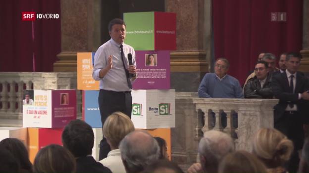 Video «Italien: Schicksals-Abstimmung für Matteo Renzi» abspielen