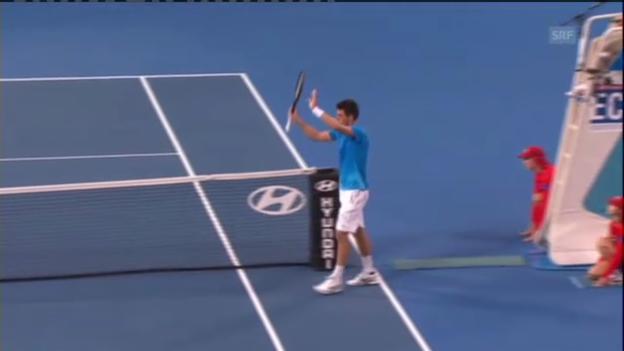 Video «Tennis: Tomic schlägt Djokovic» abspielen