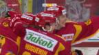 Video «Freiburg unterliegt Schlusslicht Langnau und gibt die Tabellenführung ab» abspielen