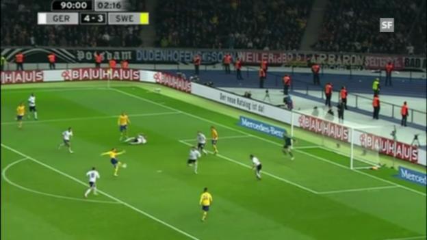 Video «Verrücktes 4:4 zwischen Deutschland und Schweden (sportaktuell)» abspielen