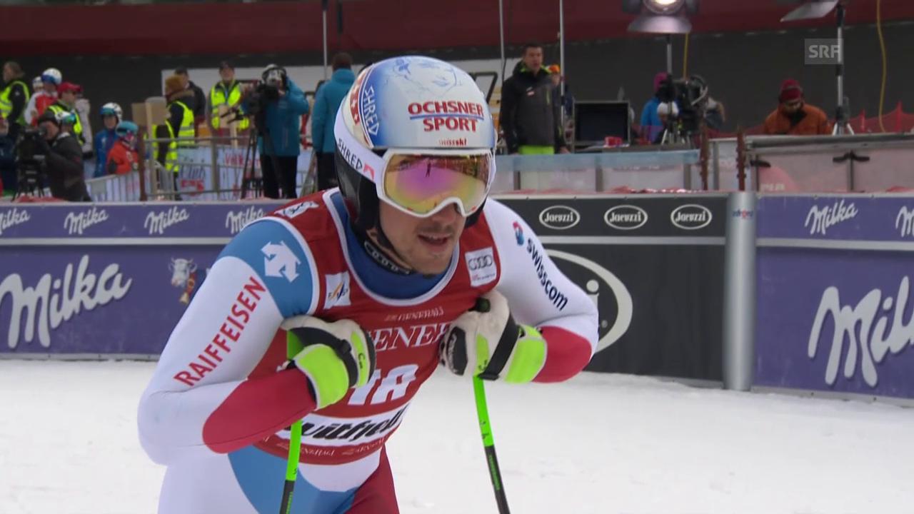 Carlo Jankas Fahrt im Super-G von Kvitfjell