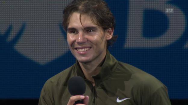 Video «Ehrung von Rafael Nadal» abspielen