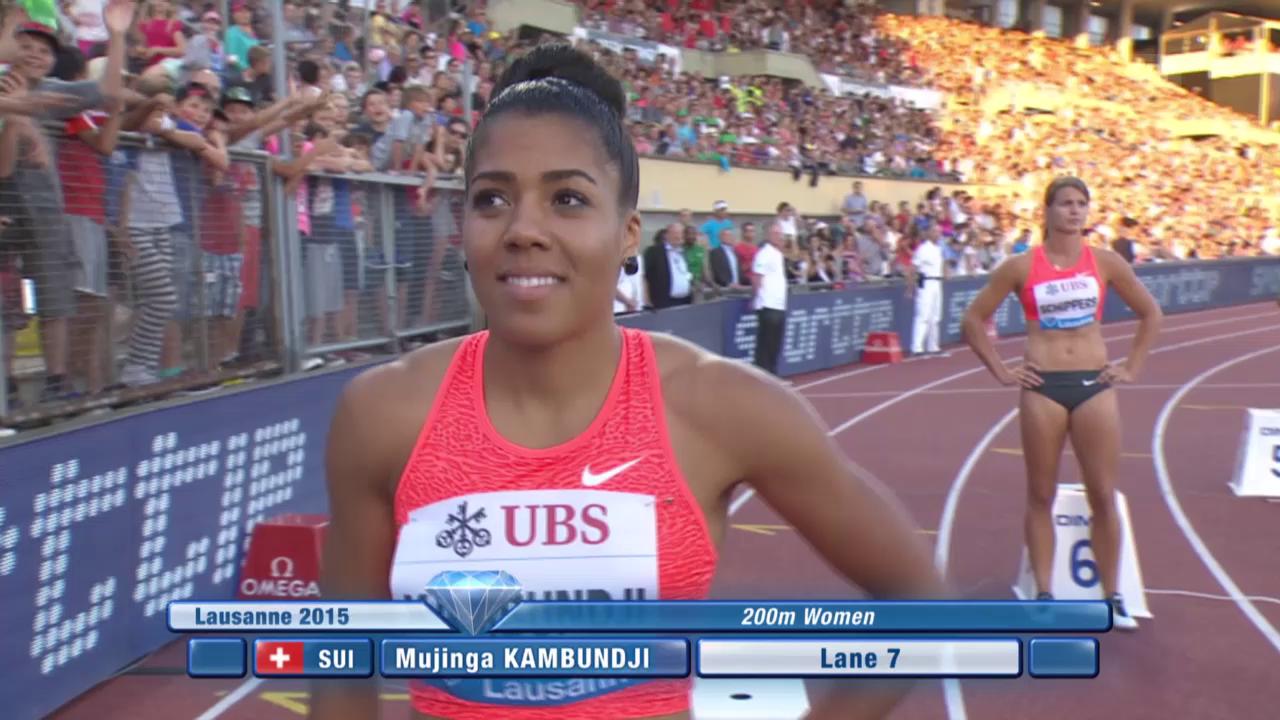 Leichtathletik: Athletissima Lausanne, 200 m Frauen mit Kambundji
