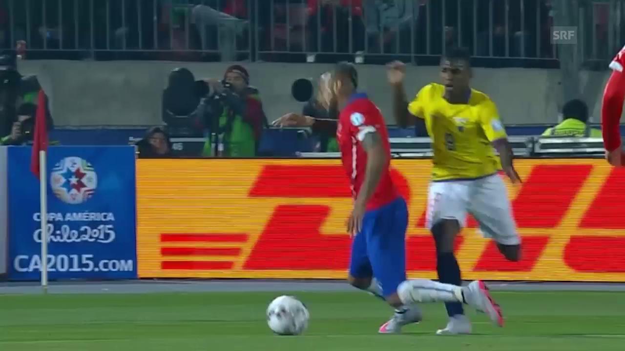 Fussball: Copa America, Highlights Chile - Ecuador