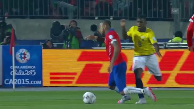 Video «Fussball: Copa America, Highlights Chile - Ecuador» abspielen