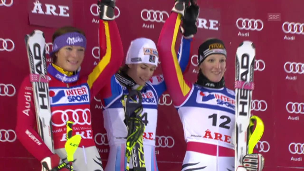 SKI: Weltcup, Slalom Frauen Aare 2009