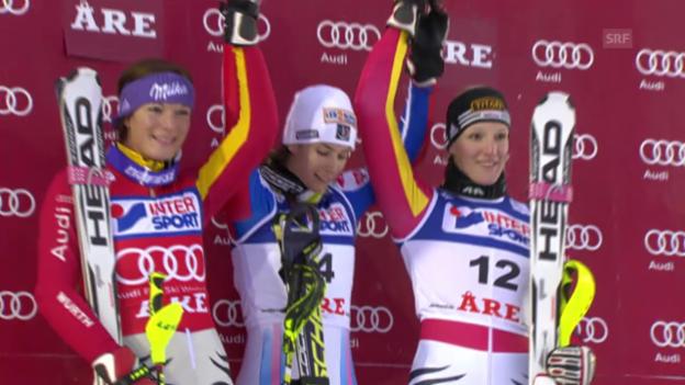Video «SKI: Weltcup, Slalom Frauen Aare 2009» abspielen