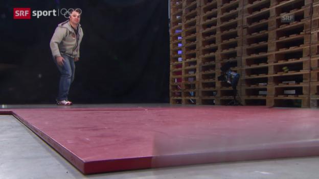 Video «Udatschi: Das SRF-Spiel mit Schweizer Olympiastars («sotschi aktuell», 8.2.2014)» abspielen