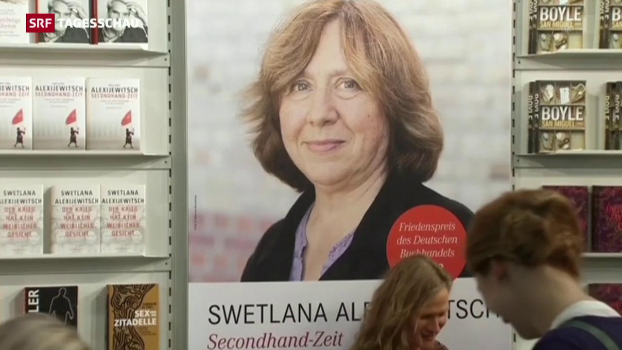 Literatur-Nobelpreis für Swetlana Alexijewitsch