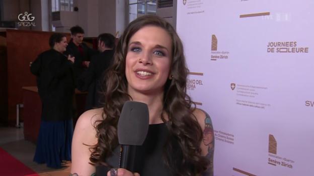 Video ««Glanz & Gloria Spezial» vom Schweizer Filmpreis in Genf» abspielen