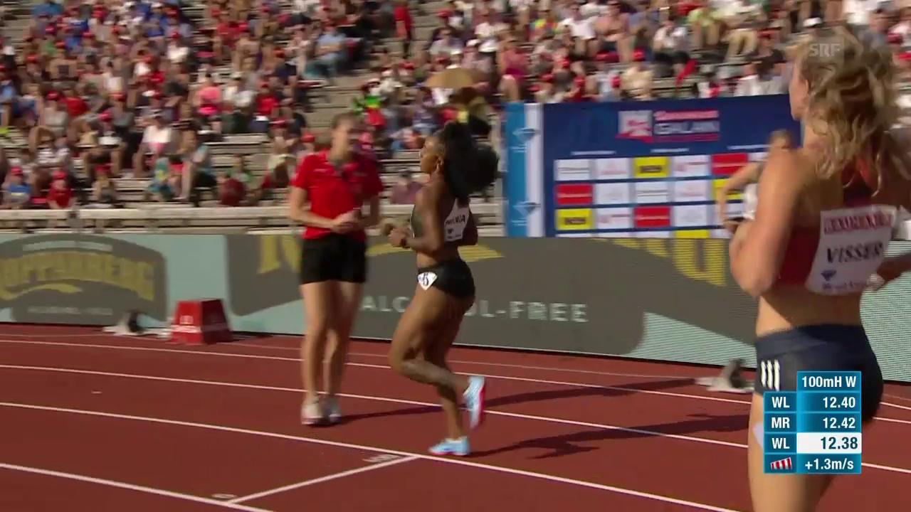 McNeals Meetingrekord über 100 m Hürden