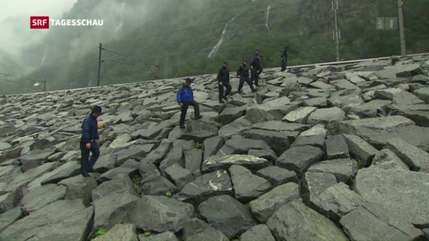 Video «Sicherheit Gotthard: Fast jeder Stein wird umgedreht» abspielen