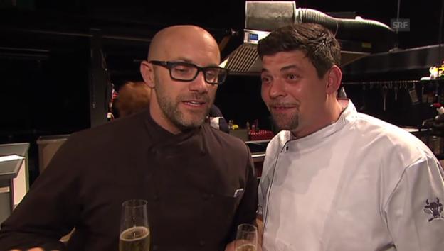 Video «Tim Mälzer und Réne Schudel: Konkurrenten am Kochherd» abspielen