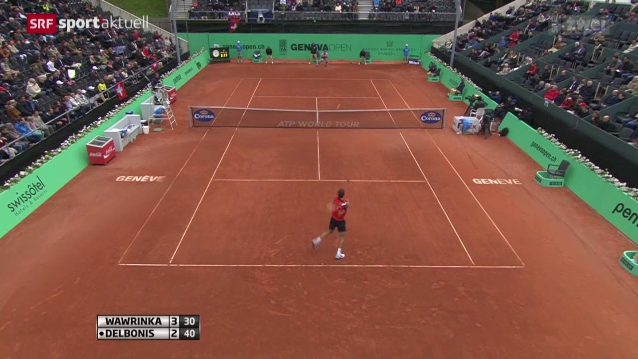 Tennis: Wawrinka - Delbonis