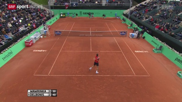 Video «Tennis: Wawrinka - Delbonis» abspielen