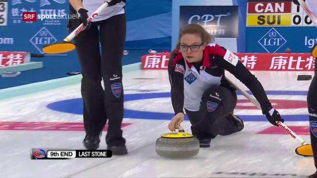 Video «Pätz und Co. unterliegen Kanada bei der Curling-WM» abspielen