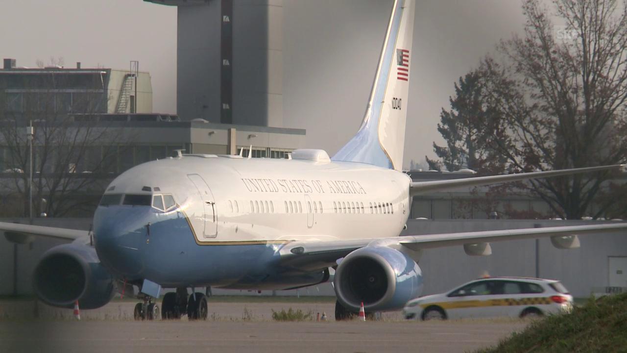 Die Boeing 737 der USA am Flughafen Zürich
